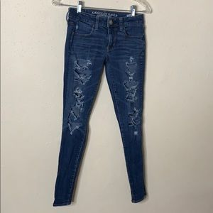AE Skinny Ripped Jeans